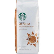Starbucks Medium, Breakfast Blend Crisp & Tangy, Ground Coffee 16-Ounce Bags (Pack of 2)