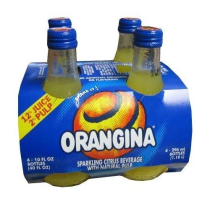 Orangina Sparkling Citrus Beverage With Pulp (4 Pack) Bottles