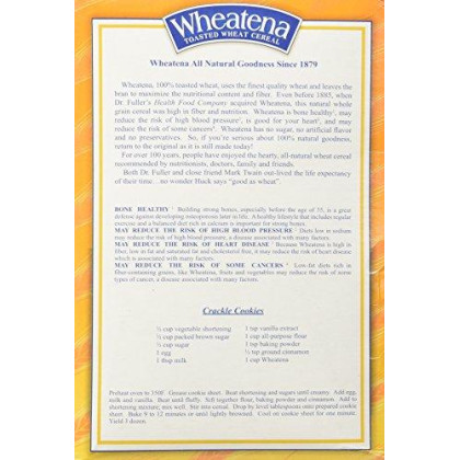 Wheatena Toasted Hot Wheat Cereal 20 Oz Pack Of 6