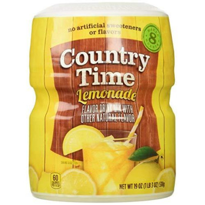 Country Time Lemonade Drink Mix, 19 Oz, Makes 8 Qt
