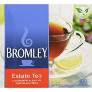 Bromley Estate Tea Blend Of Fine Black Teas 100-Tea Bags 8-Oz. Box