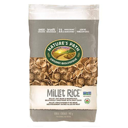 Nature's Path Millet Rice Sweetened with Fruit Juice, Healthy, Organic, Gluten-Free, 32 Ounce Bag (Pack of 6)