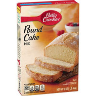 Betty Crocker Cake Mix Pound Cake 16.0 oz Box (pack of 12)