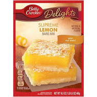 Betty Crocker Delights, Supreme Lemon Bars Baking Mix, 16.5 Oz Box (Pack Of 12)