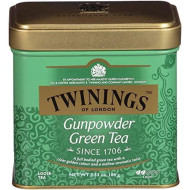 Twinings of London Green Gunpowder Loose Tea Tins, 3.53 Ounce (Pack of 6)