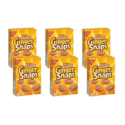 Nabisco Ginger Snaps Cookies, 16 Ounce (Pack Of 6)