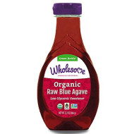 Wholesome Organic Raw Blue Agave Nectar, Syrup, Low Glycemic Sweetener, Non GMO, 23.5 oz (Pack of 6)