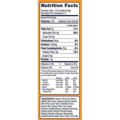 Nana'S No Gluten Chocolate Cookies, 3.2-Ounce Packages (Pack Of 12)