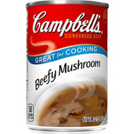 Campbell'S゠Condensed Beefy Mushroom Soup, 10.5 Ounce Each,  Pack Of 12