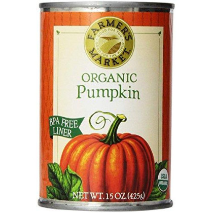 Farmers Market Organic Pumpkin, 15 Ounce (Pack of 12) (Packaging May Vary)
