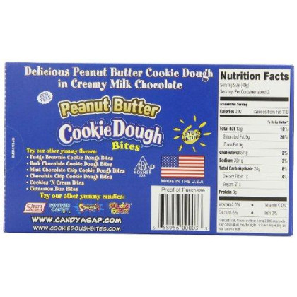 Taste of Nature Inc. Peanut Butter Cookie Dough Bites 3.1 - Ounce Boxes (Pack of 30)