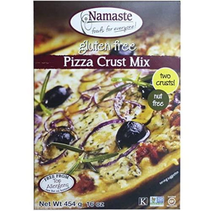 Namaste Foods, Gluten Free Pizza Crust Mix, 16-Ounce (Pack Of 6) - Allergen-Free