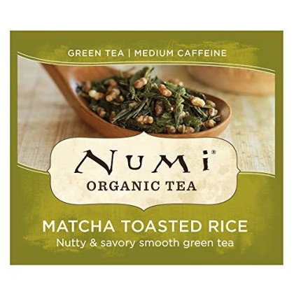 Numi Organic Tea Matcha Toasted Rice, 18 Count (Pack of 1) Box of Tea Bags, Green Tea (Packaging May Vary)