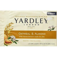 Yardley Of London Naturally Moisturizing Bar Soap Oatmeal & Almond 3+1 Free