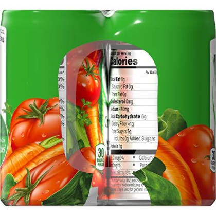 V8 Original 100% Vegetable Juice, 5.5 Oz. Can, 6 Count