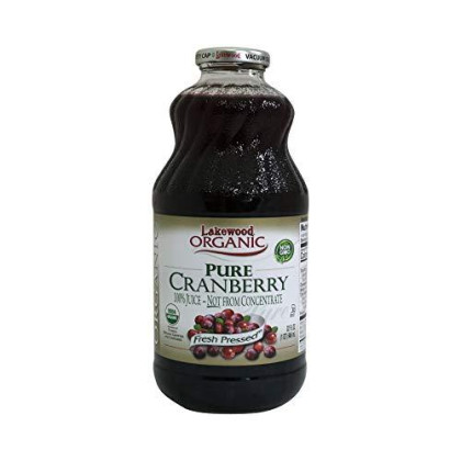 Lakewood Organic Cranberry Juice, 32 Oz
