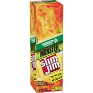 Slim Jim Monster smokd Meat Sticks, Tabasco, Packed With Protein, 1.94 Oz. Sticks, 18 Count