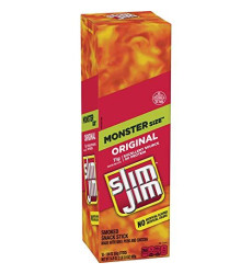 Slim Jim Monster smokd Meat Sticks, Original, Packed With Protein, 1.94-Ounce, 18 Count