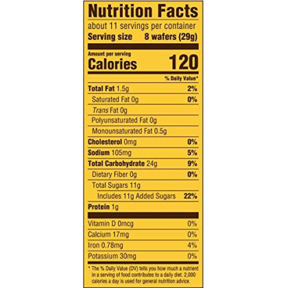 Nilla Wafer Reduced Fat Cookies, 11 Ounce