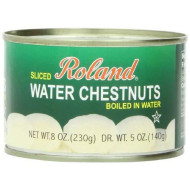 Roland Water Chestnuts, Sliced, 8 Ounce (Pack Of 24)