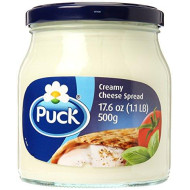 Puck Pure And Natural Cheese Cream Spread, 500 Gram (Packaging May Vary)