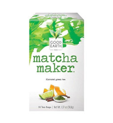 Good Earth Green Tea, Matcha Maker, 18 Count Tea Bags (Pack of 6) (Packaging May Vary)