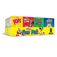 Kellogg's Fun Pak, Breakfast Cereal, Variety Pack, 8.56oz Tray (8 Count)