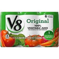 V8 Original 100% Vegetable Juice, 5.5 Oz. Can (8 Packs Of 6, Total Of 48)