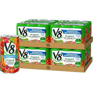 V8 Original Essential Antioxidants 100% Vegetable Juice, 5.5 oz. Can (8 packs of 6, Total of 48)