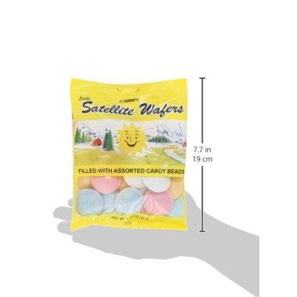 Gerrit's Satellite Wafers, Original with Candy Beads, 1.23-Ounce-Bags (Pack of 12)