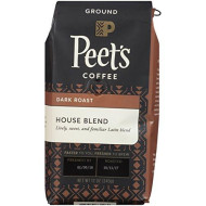 Peet's Coffee House Blend Medium Roast Ground Coffee House Blend, 12 Ounce Bag