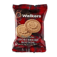 Walkers Pure Butter Shortbread Rounds, Traditional Butter Shortbread Cookies, 2 Count (Pack Of 22)