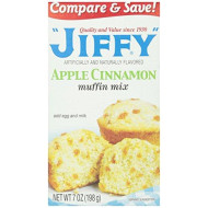 Jiffy Muffin Mix, Apple Cinnamon, 7 oz