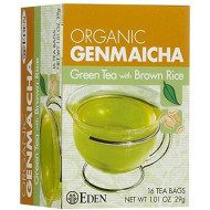 Eden Organic Green Tea with Brown Rice, Traditional Genmaicha, Tea Bags, (1.01 OZ) 16 ct Boxes