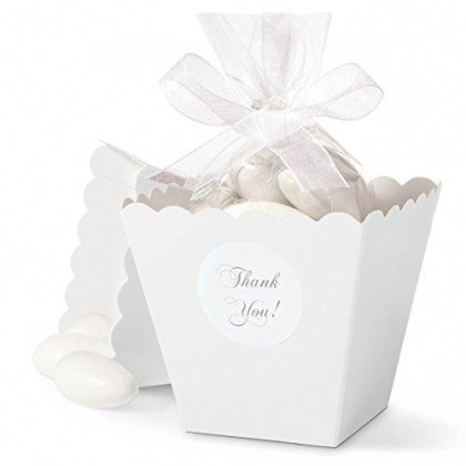 Wilton Jordan Almonds, Ideal for Individually Packaged Edible Wedding and Baby Shower Favors, Use for Easter or Spring Celebrations, Mega Pack, White (44 oz.)