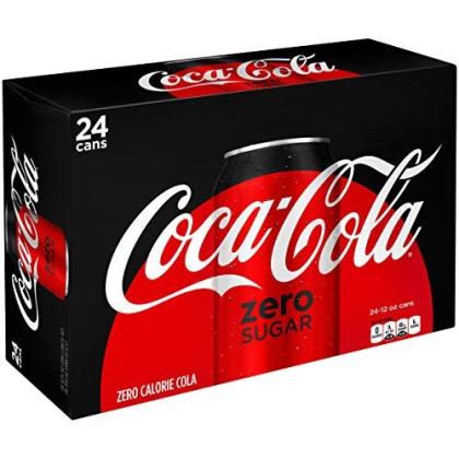 Coke Zero Sugar Diet Soda Soft Drink, 12 fl oz, 24 Pack