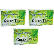 Uncle Lee's Tea Legends of China Green Tea, 100 Tea Bags (Pack of 3)