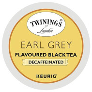 Twinings of London Decaffeinated Earl Grey Tea K-Cups for Keurig, 24 Count (Pack of 2)