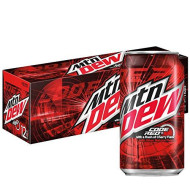 Mountain Dew, Code Red, Cherry, 12 oz (pack of 12)
