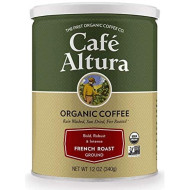 Cafe Altura Ground Organic Coffee, French Roast, 12 Ounce (Pack of 3)