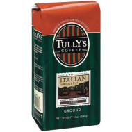 Tully's Coffee Italian Roast, Ground , 12 Ounce Bags (Pack of 3)