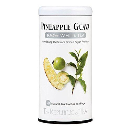 The Republic of Tea, Pineapple Guava White Tea, 50-Count