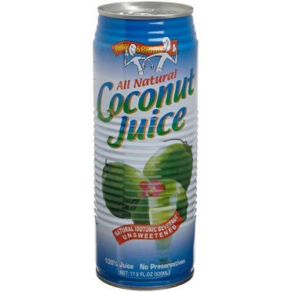 Amy & Brian Coconut Juice, 17.5-Ounce Cans (Pack Of 12)