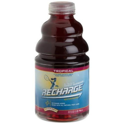 R.W. Knudsen Recharge Sports Drink, Tropical, 32-Ounce Bottles (Pack Of 12)