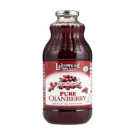 Lakewood Pure Cranberry Juice, 32 Ounce - 12 Per Case.