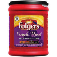 Folgers French Roast Ground Coffee, 10.3 Ounce Packages (Pack of 6)