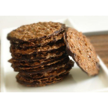 Laceys Almond and Dark Chocolate Crisp Toffee Wafer Cookies