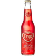 Faygo Red Pop From The Motor City Detroit, Michigan!, 12-Ounce Glass Bottles With Organic Paint (Pack Of 12)