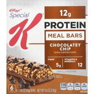 Special K Protein Meal Bar, Chocolatey Chip, 6 - 1.59 oz  Count Bars,  (Pack of 3)