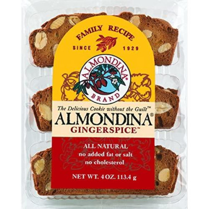 Almondina Almond Cookies, Gingerspice, 4-Ounce Package (Pack Of 6)